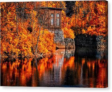 Autumn Reflections  Canvas Print by Bob Orsillo