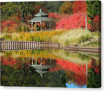 Autumn Reflections Canvas Print by Teresa Schomig