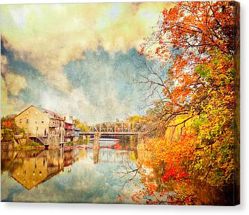 Tracy Munson Canvas Print - Autumn Reflections by Tracy Munson