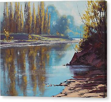 Autumn Reflections Tumut River Canvas Print by Graham Gercken