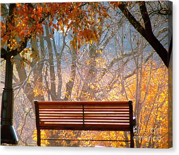 Autumn Retreat Canvas Print by France Laliberte