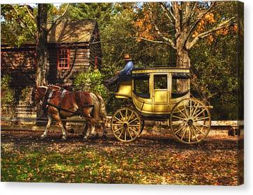 Autumn Ride Canvas Print