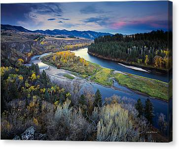Autumn River Canvas Print by Leland D Howard