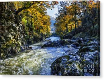 Autumn River Valley Canvas Print