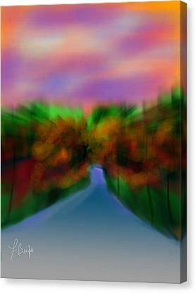 Autumn Road Canvas Print by Frank Bright