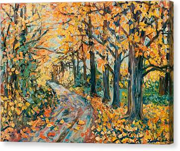 Autumn Road Canvas Print by Kendall Kessler