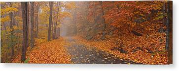 Autumn Road, Monadnock Mountain, New Canvas Print by Panoramic Images