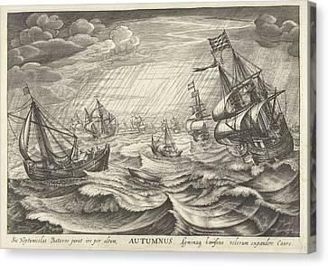 Autumn, Robert De Baudous Canvas Print by Robert De Baudous And Cornelis Claesz. Van Wieringen And Johannes Janssonius