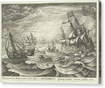 Autumn, Robert De Baudous Canvas Print by Robert De Baudous And Cornelis Claesz. Van Wieringen