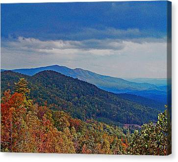 Patricia Taylor Canvas Print - Autumn Rolling Mountains by Patricia Taylor