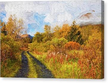 Autumn Scenic Oil Painting Canvas Print by Marion Owen