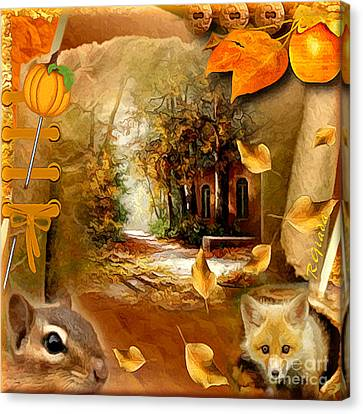 Autumn Scrap Canvas Print