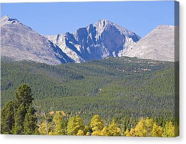 Rocky Mountain Canvas Print - Autumn Season View Of Co Rocky Mountains Longs Peak by James BO  Insogna