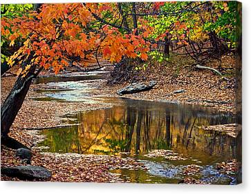 Autumn Serenity Canvas Print by Frozen in Time Fine Art Photography
