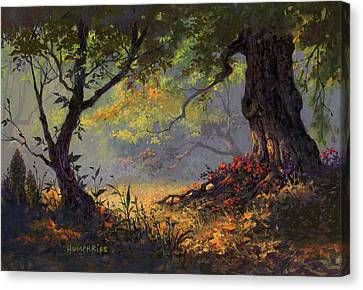 Autumn Shade Canvas Print by Michael Humphries