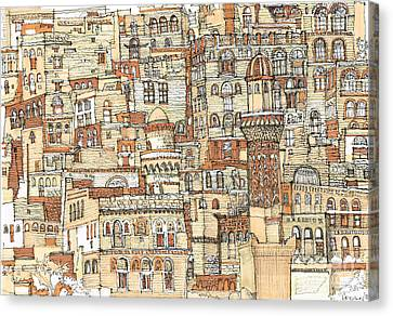 Autumn Shaded Arabian Cityscape Canvas Print by Adendorff Design