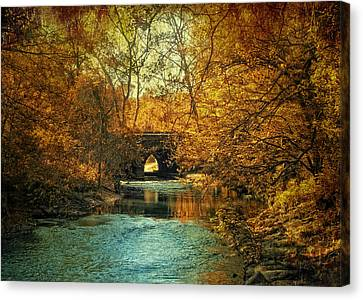 Autumn Shimmer Canvas Print by Jessica Jenney
