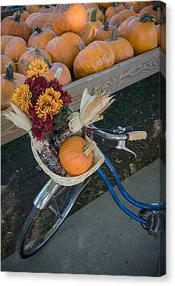 Canvas Print featuring the photograph Autumn Shopping by Wayne Meyer