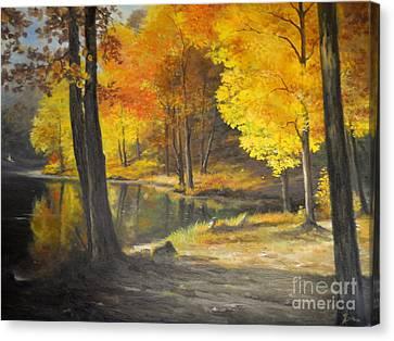 Autumn Silence  Canvas Print by Sorin Apostolescu
