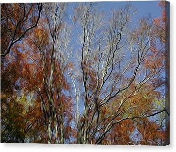 Canvas Print featuring the digital art Autumn Sky by Kelvin Booker