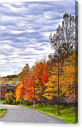 Autumn Sky Canvas Print by Frozen in Time Fine Art Photography