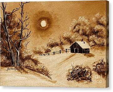 Autumn Snow Canvas Print by Barbara Griffin