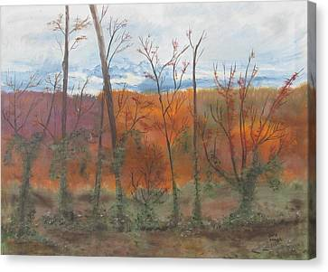 Canvas Print featuring the painting Autumn Splendor by Diane Pape