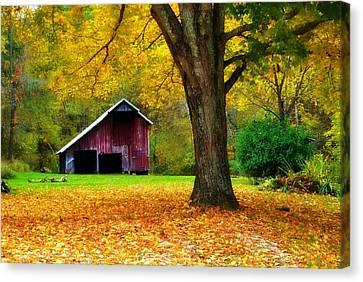 Autumn Splendor In West Virginia Canvas Print by Chastity Hoff