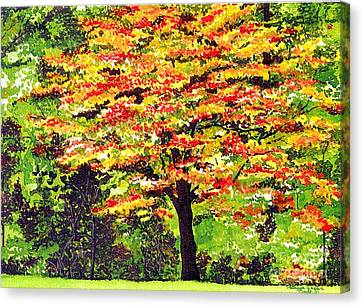 Canvas Print featuring the painting Autumn Splendor by Patricia Griffin Brett