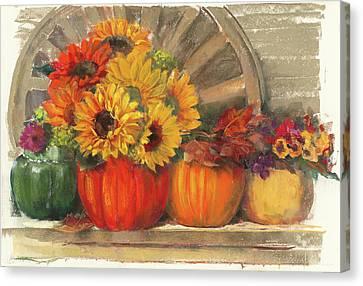 Autumn Still Life Canvas Print by Carol Rowan