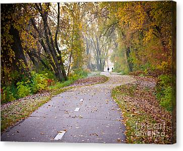 Canvas Print featuring the photograph Autumn Stroll by Kari Yearous