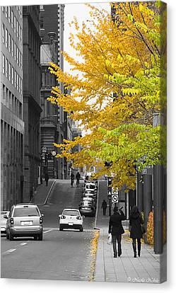 Autumn Stroll Canvas Print by Nicola Nobile