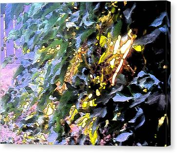 Autumn Sun On Leaves Canvas Print