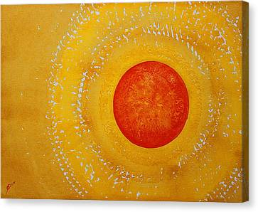 Autumn Sun Original Painting Canvas Print by Sol Luckman