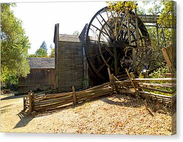 Autumn Sun Shining On The Old Bale Mill Canvas Print by Patricia Sanders