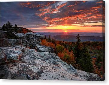 Canvas Print featuring the photograph Autumn Sunrise At Dolly Sods by Jaki Miller