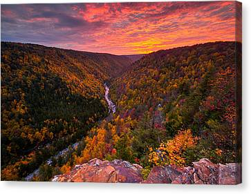 Autumn Sunset From Pendleton Point Canvas Print