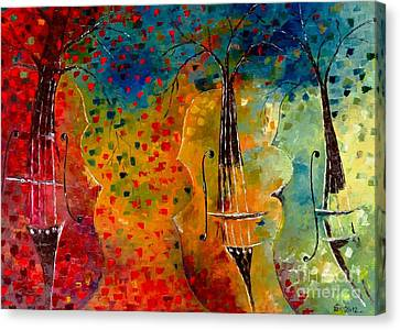 Autumn Symphony Canvas Print by AmaS Art