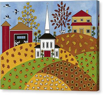 Autumn Tapestry Canvas Print by Medana Gabbard