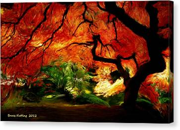 Canvas Print featuring the painting Autumn Tree by Bruce Nutting