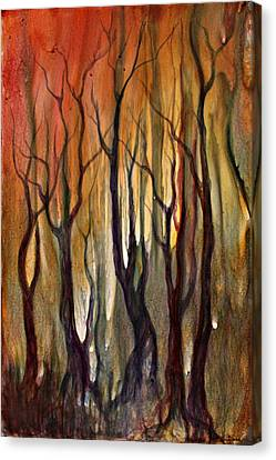Autumn Trees Canvas Print by Ellen Starr