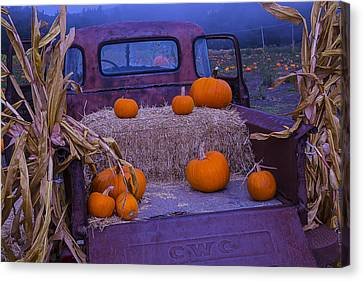 Autumn Truck Canvas Print by Garry Gay