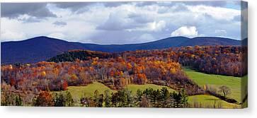 Autumn View Toward Mount Greylock Canvas Print by Geoffrey Coelho