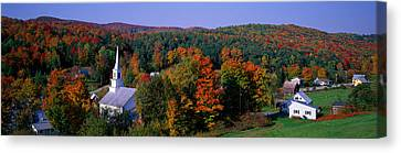 New England Village Canvas Print - Autumn, Waits River, Vermont, Usa by Panoramic Images