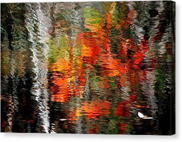 Autumn Water Colors Canvas Print