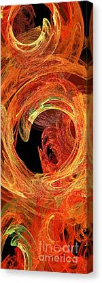Autumn Waves Canvas Print by Andee Design