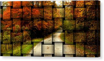 Canvas Print featuring the photograph Autumn Weave by Katie Wing Vigil