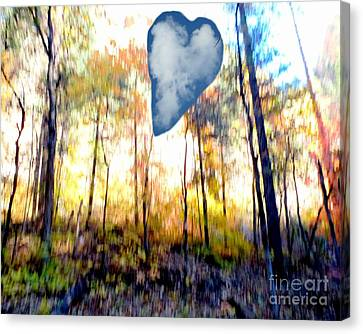 Autumn West Fork Bell Rock Heart Cloud Canvas Print by Marlene Rose Besso