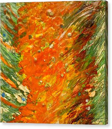 Canvas Print featuring the painting Autumn Wind by Joan Reese