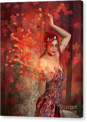 Autumn Witch Canvas Print